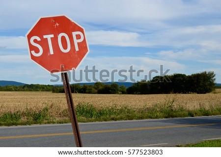 Stop Sign, landscape #577523803