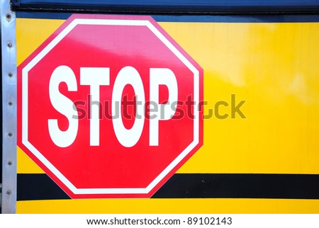 Stop sign on car
