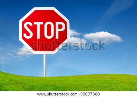 Stop sign outdoor
