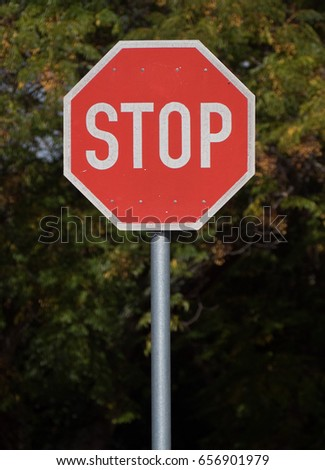 Stop sign post