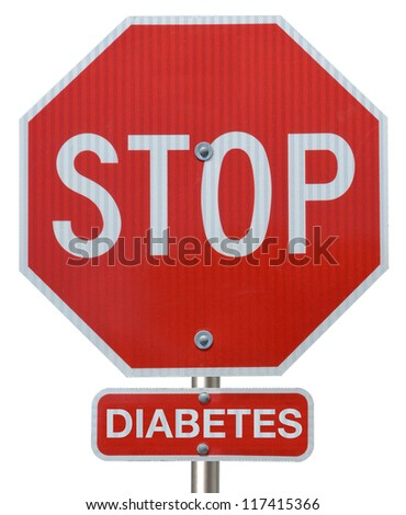 "Stop sign reading ""Stop Diabetes"" - stock photo"