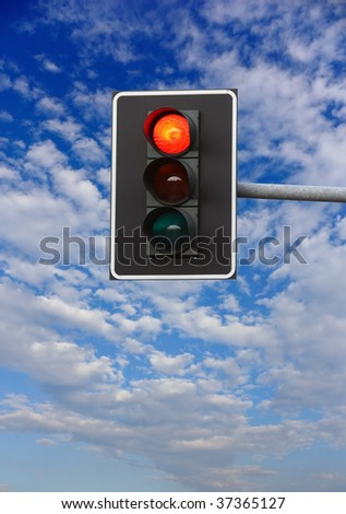 stop sign. red traffic lights