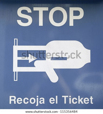 Stop sign ticket information collection