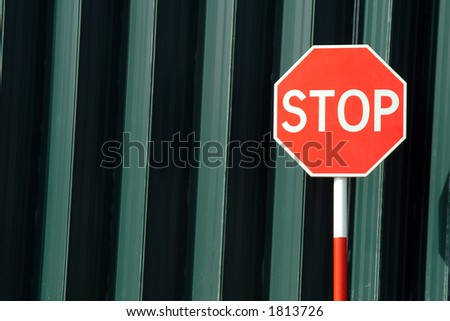 Stop sign, traffic