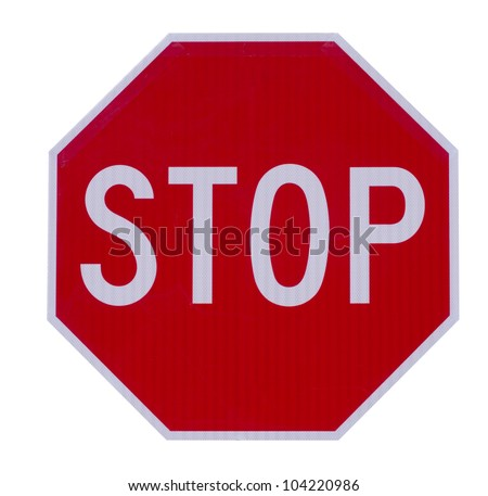 Stop traffic warning road sign