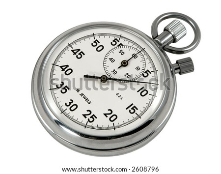 Stop-watch, isolated on white, clipping path included