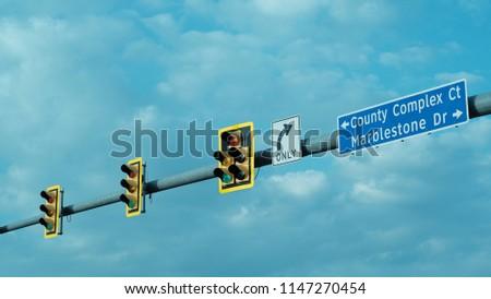Stoplights Signage Street Sign