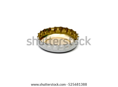 Stopper from a bottle beer isolated on a white background.