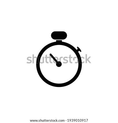 stopwatch icon design template illustration Photo stock ©