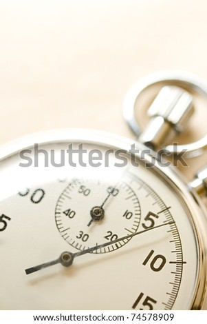 Stopwatch isolated