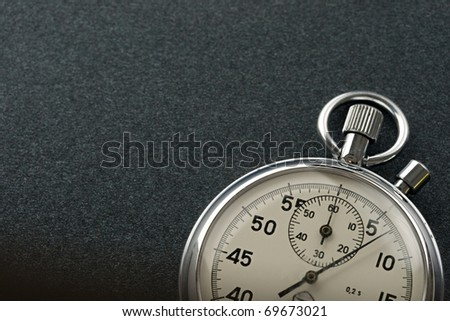 Stopwatch isolated on dark