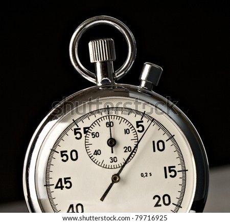 Stopwatch isolated on the black background