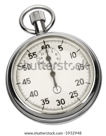 Stopwatch - isolated on white