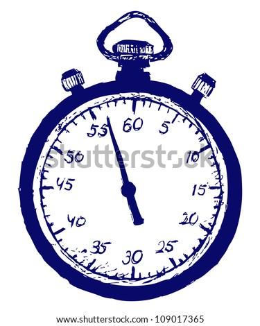 Stopwatch sketch. Raster