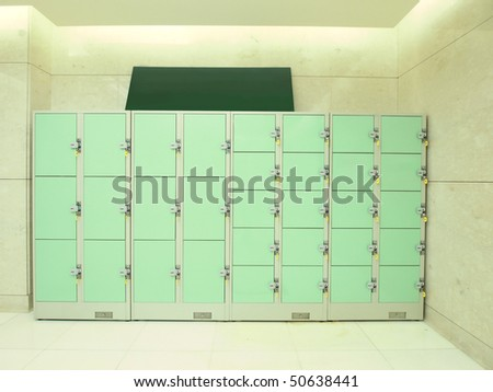 Storage area and lockers