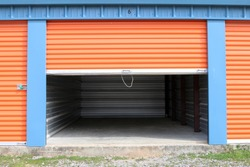 Storage: Empty Storage Unit With Door Open