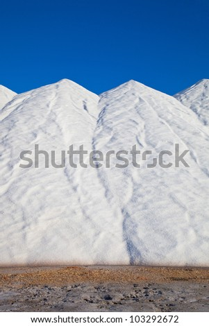 storage from the sea salt - stock photo