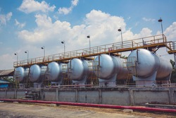 Storage of fuel oil in the horizontal tanks and pipeline