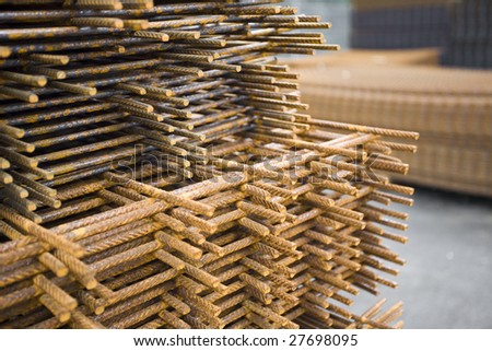 storage of iron to build the reinforced concrete