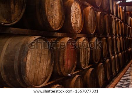 Storage of multiple drink barrels Imagine de stoc ©