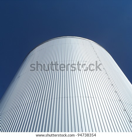 Storage Tank in front of blue sky