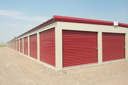 Storage unit at a storage facility.