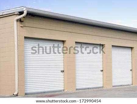 Storage units at a self storage facility.