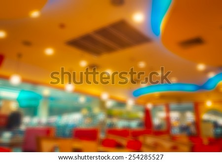 store blur background with bokeh Blurred background no Customer at restaurant blur background with bokeh
