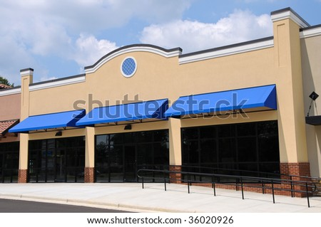 Store Front in a New Shopping Center