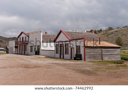 Store, hotel, restaurant, saloon, and card room in the South Pass City State Historic Site in Wyoming