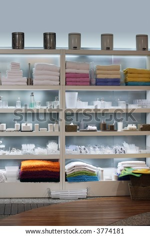 Home Decorating Stores on Store Interior   Shelves With Home Decor Products Stock Photo 3774181