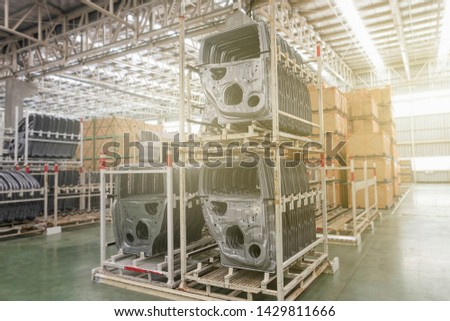 Store of inner rear and front doors of automotive part. Automotive industry #1429811666
