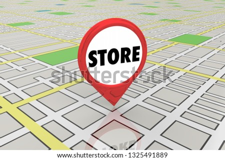 Store Shop Retail Location Map Pin 3d Illustration