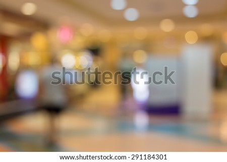store shopping mall image blur defocused background #291184301