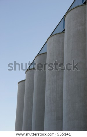 Storing Wheat - stock photo