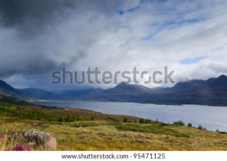Storm above Loch Torridon / Rain storm approaching Torridon mountains and loch