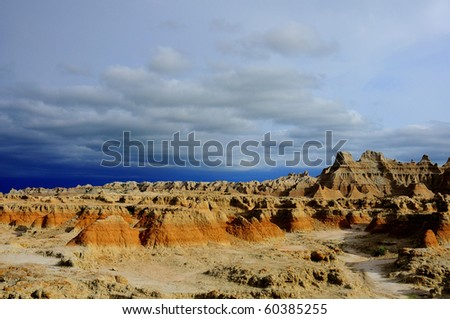 Storm at Badlands