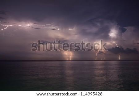 storm beginning with lightning
