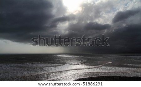 Storm clouds along the Atlantic coast