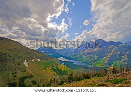 Storm Clouds approaching the Two Medicine valley in Glacier National Park