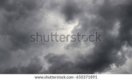 storm clouds background view from ground surface #650371891