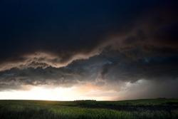 Storm Clouds Canada rural countryside Prairie Scene
