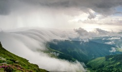 storm clouds in the mountains, Rodnei Mountains, Romania