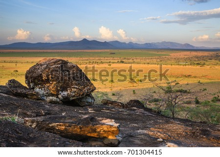 Storm clouds landscape in Kidepo Valley National Park - Uganda