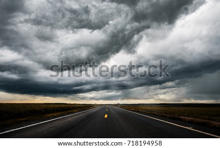 Stock Photo Storm Clouds ominous