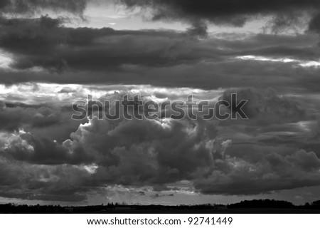 Storm clouds over Alberta, Canada.