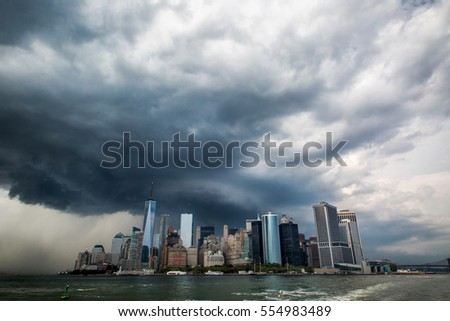 Storm clouds over New York City #554983489