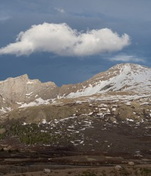 Storm Clouds roll over Mount Bierstadt at Guanella Pass