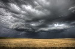 Storm Clouds Saskatchewan ominous wheat fields Saskatchewan
