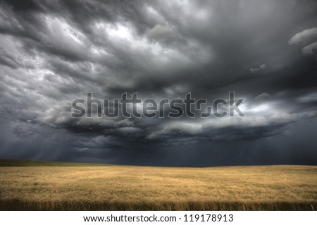 Storm Clouds Saskatchewan ominous wheat fields Saskatchewan
